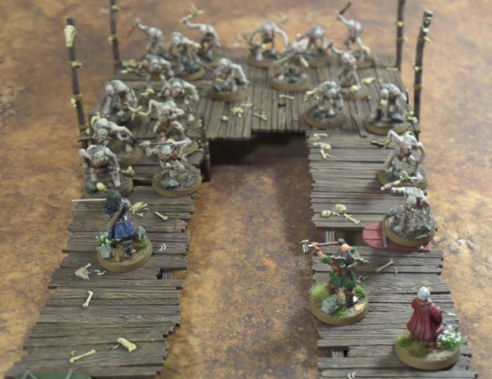 Guard the Crossings Hobbit SBG Scenario Thorin Dwalin Balin Escape From Goblin Town Set Games Workshop