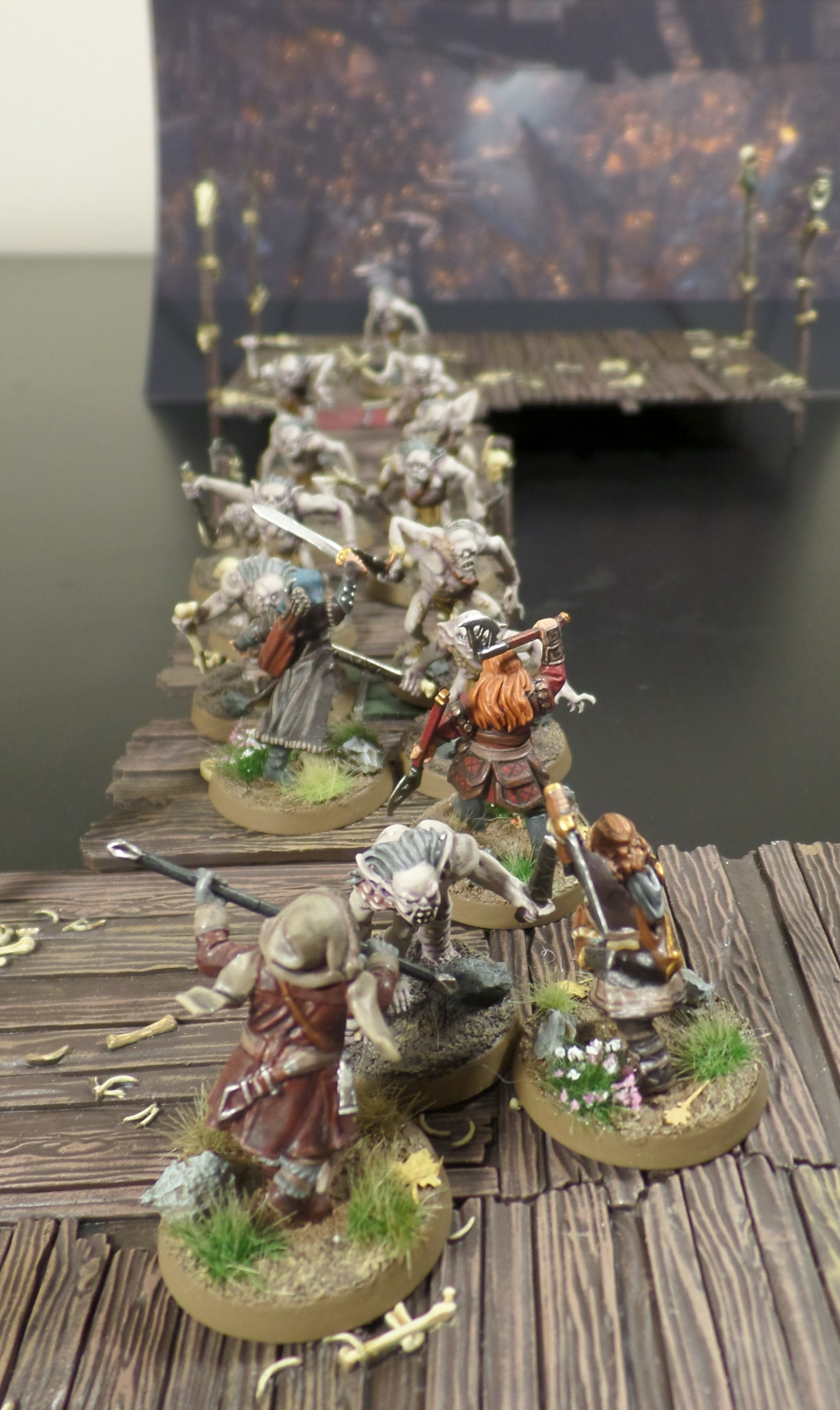 The Break Through Hobbit SBG Scenario Gloin Oin Fili Kili Escape From Goblin Town Set Games Workshop