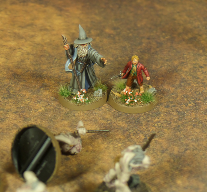 The Wizard and the Burglar Battle Report Gandalf Bilbo Goblin King Grinnah Hobbit Strategy Battle Game Games Workshop