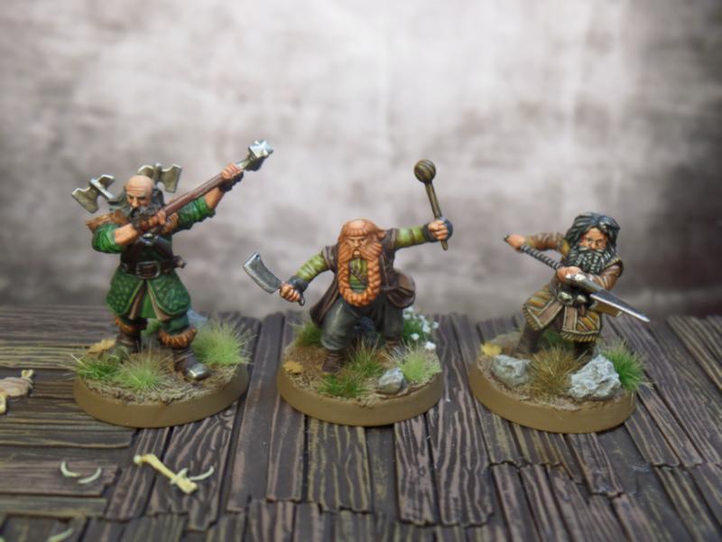 Bifur Dwalin Bombur Hobbit SBG Escape From Goblin Town Box Set Games Workshop