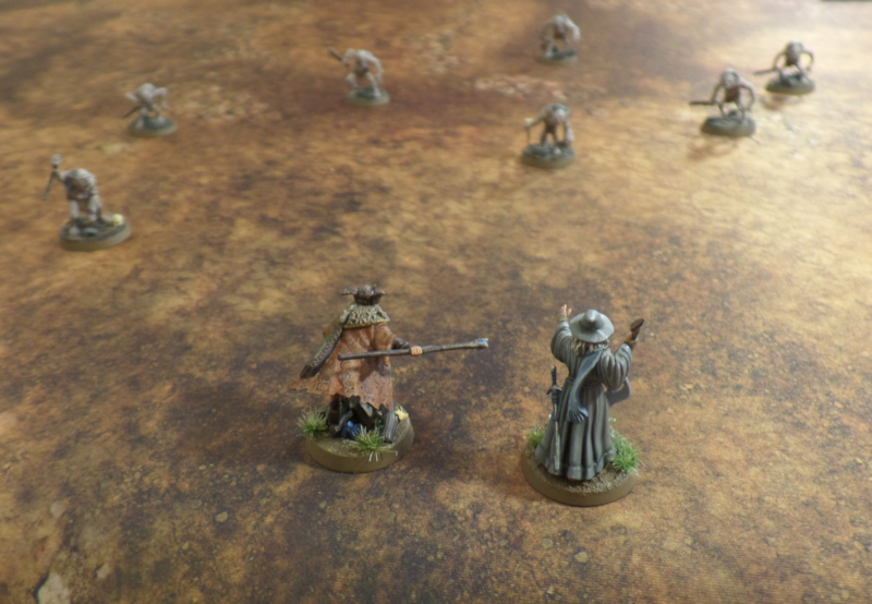 Wizards in the Dark Gandalf Radagast Hobbit SBG Escape From Goblin Town Games Workshop