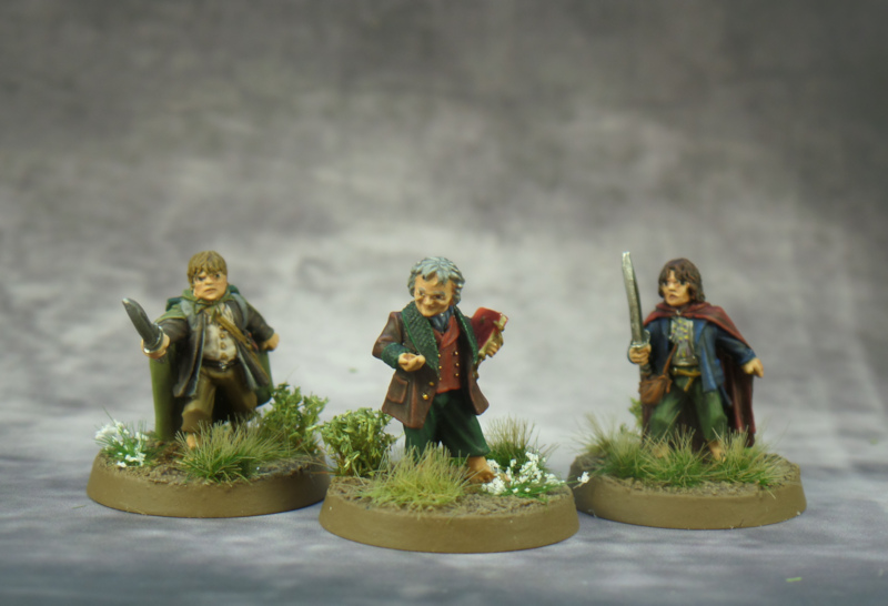 Samwise Bilbo, Pippin Lord of the Rings Fellowship Games Workshop