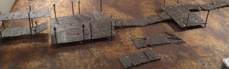 Goblin Town Terrain Progress Hobbit SBG Games Workshop Board