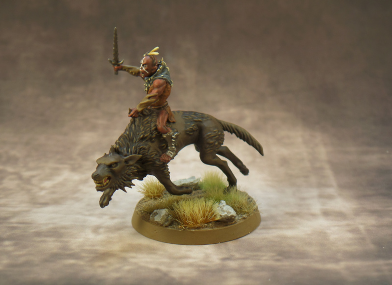 Hunter Orc on Fell Warg Hobbit Strategy Battle Game Games Workshop