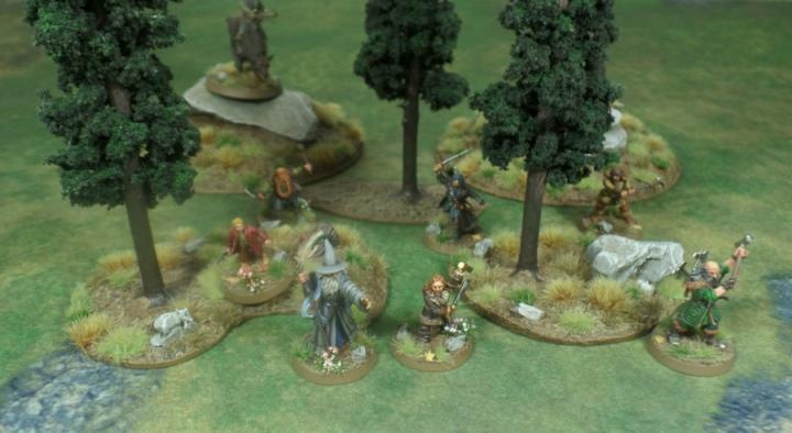Pine Tree Terrain Hobbit SBG Games Workshop Gandalf Bilbo Fili Kili Bombur