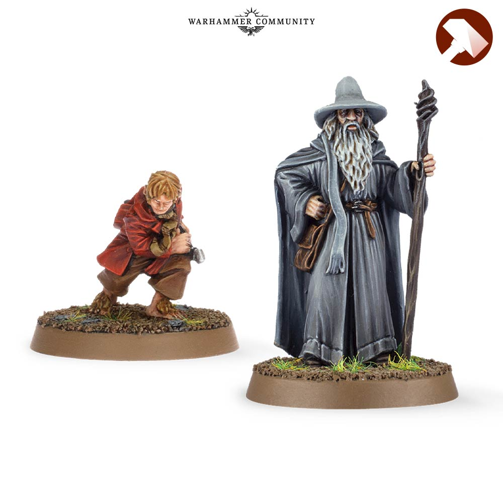 Gandalf and Bilbo Made to Order MESBG Games Workshop