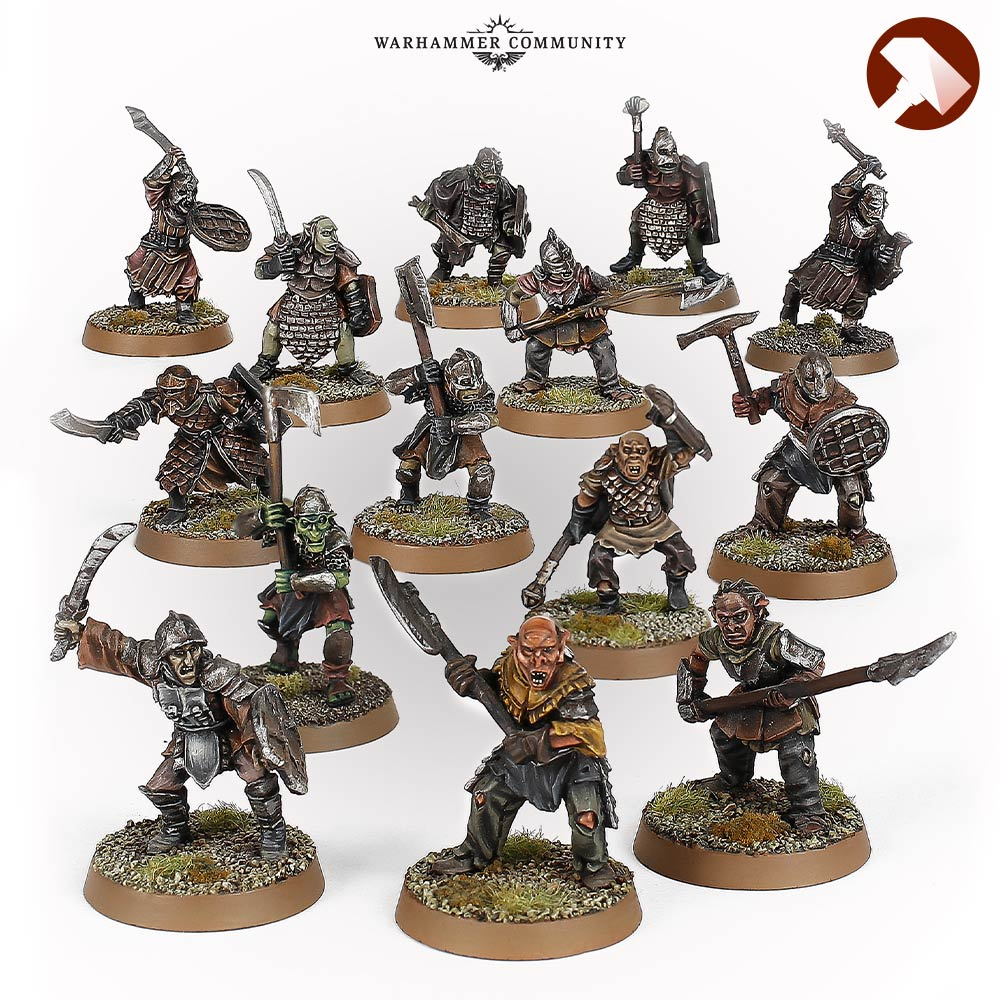 Mordor Orcs Made to Order MESBG Games Workshop