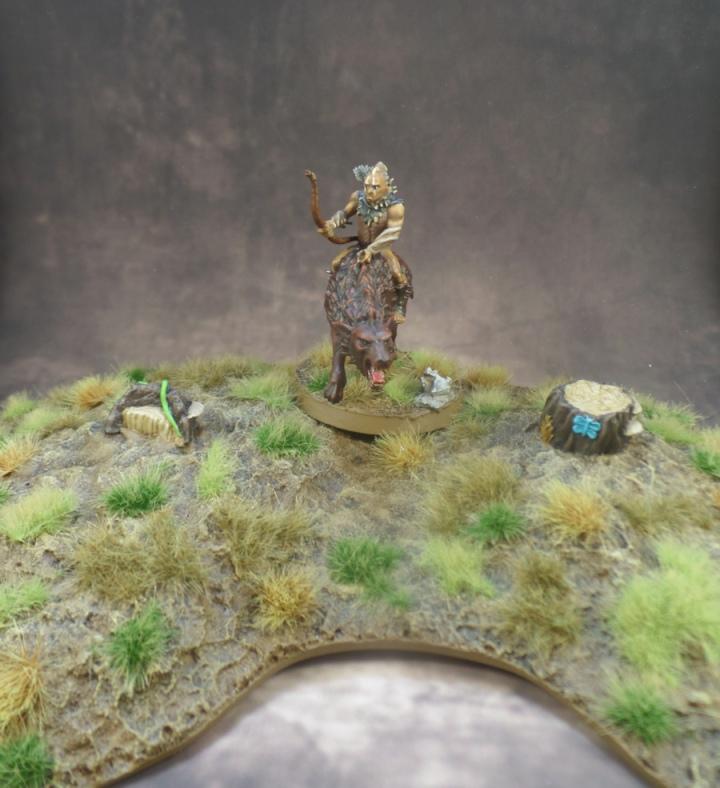 Eriador Tree Stumps Terrain Hunter Orc on Fell Warg Games Workshop Hobbit Strategy Battle Game