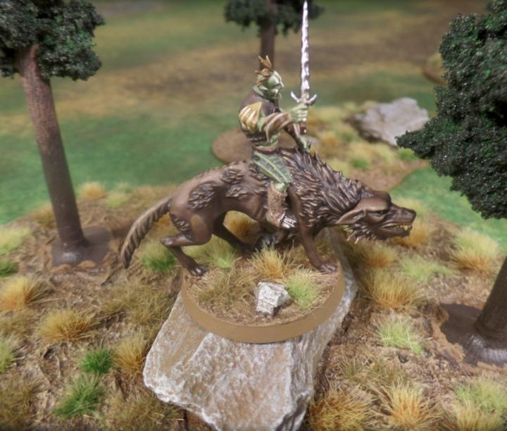 Hunter Orc on Fell Warg Hobbit Strategy Battle Game Games Workshop Azog