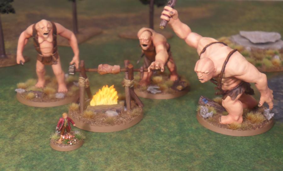 Roast Mutton Layout Hobbit SBG Games Workshop Bilbo Baggins Will, Bert, Tom Trolls