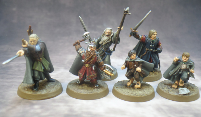 Legolas Gandalf Gimli Sam Frodo Boromir Breaking of the Fellowship Games Workshop Lord of the Rings Strategy Battle Game