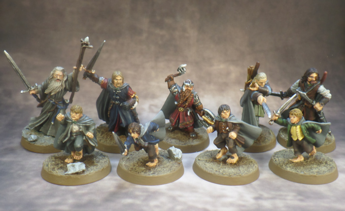 Breaking of the Fellowship Lord of the Rings SBG Games Workshop Frodo, Sam, Merry, Pippin, Boromir, Gandalf, Gimli, Legolas Aragorn