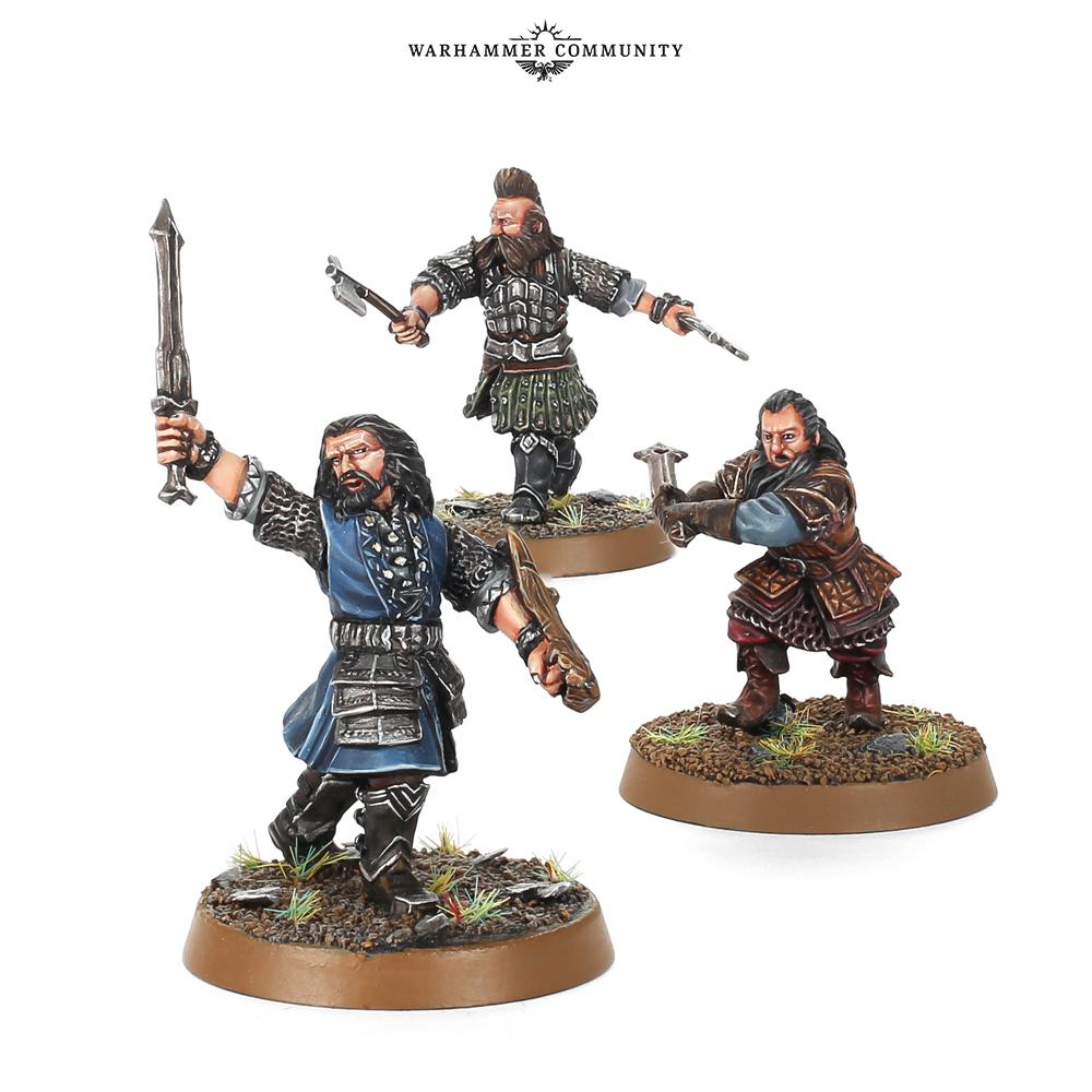 Young Thorin, Balin, and Dwalin Hobbit SBG Games Workshop