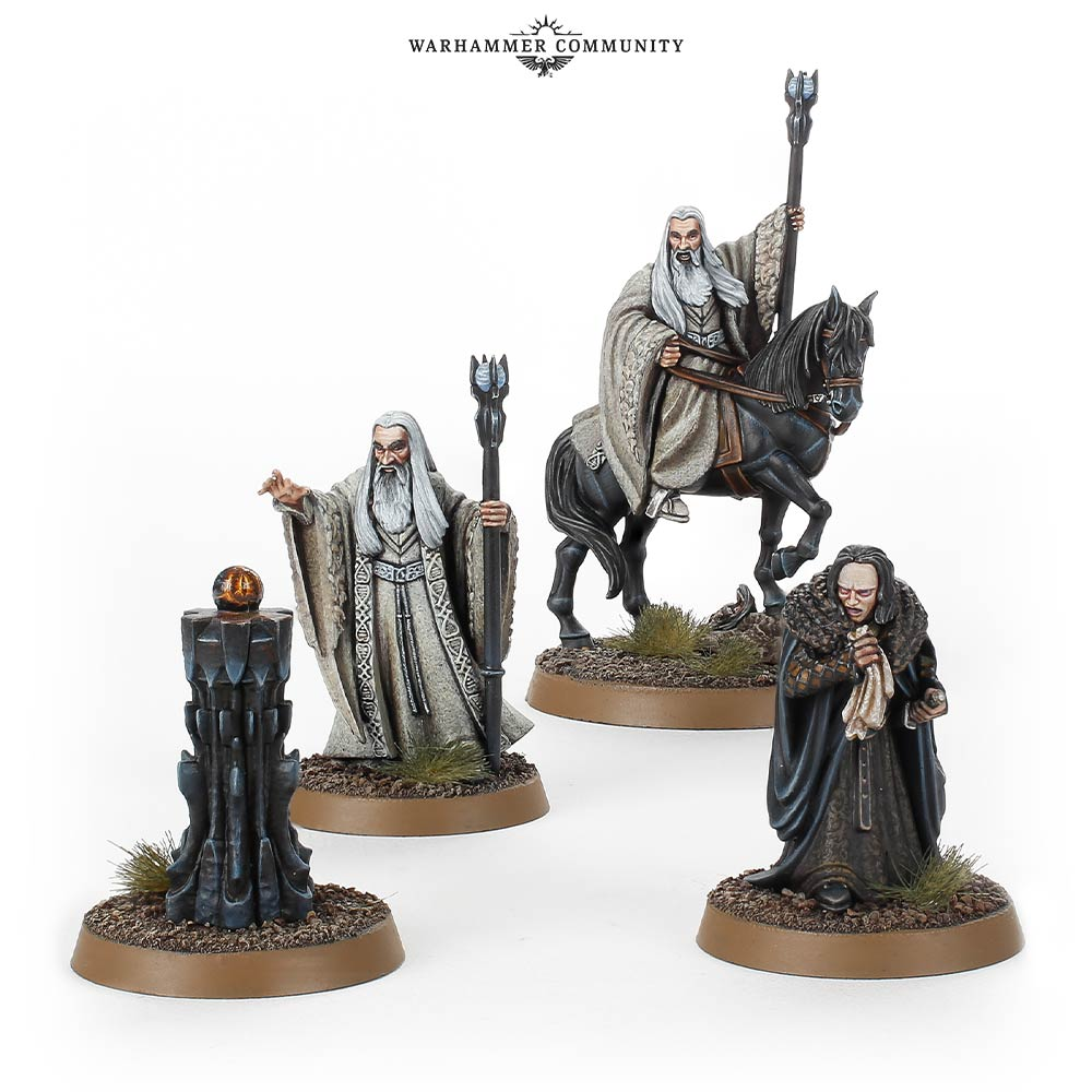 Saruman and Wormtongue Games Workshop Middle Earth Strategy Battle Game