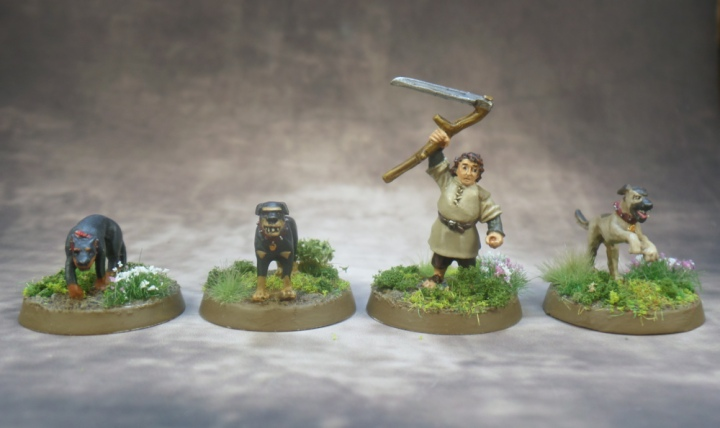 Farmer Maggot and Dogs Based Middle Earth Strategy Battle Game Lord of the Rings Games Workshop
