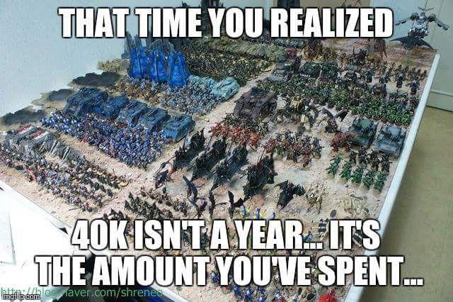 Warhammer 40k Cost Expensive Games Workshop Meme