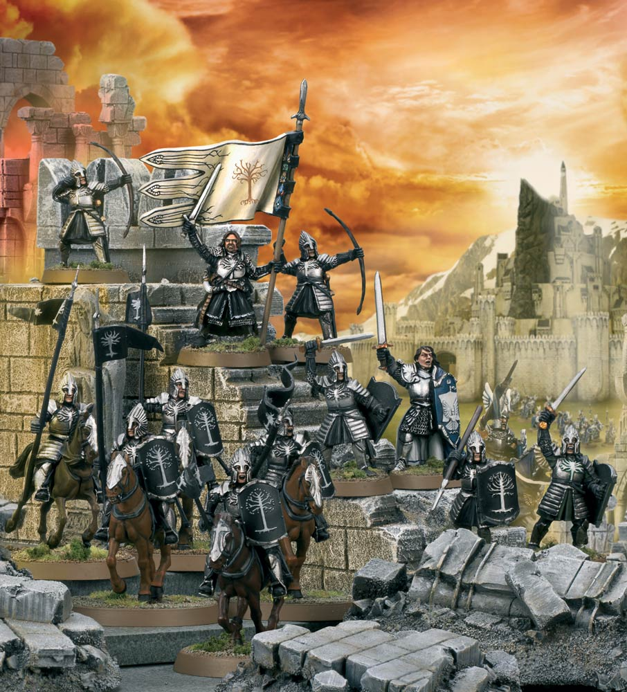 Boromir and Minas Tirith troops Middle Earth Strategy Battle Game Games Workshop