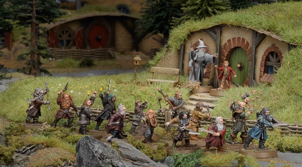 Thorin's Company in the Shire Middle Earth Strategy Battle Game Games Workshop