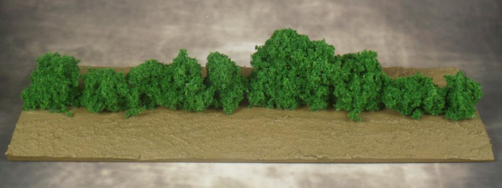 MDF Base with Clump Foliage Hedge Terrain