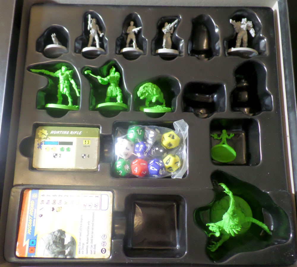 Miniatures in Box Tray Fallout Wasteland Warfare Modiphius