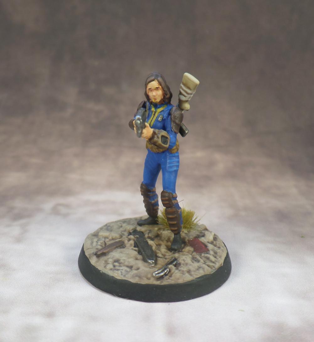 Nora Sole Survivor Fallout Wasteland Warfare Plastic Modiphius Starter Set