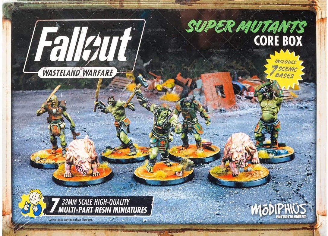 Super Mutants Core Box Fallout Wasteland Warfare Modiphius