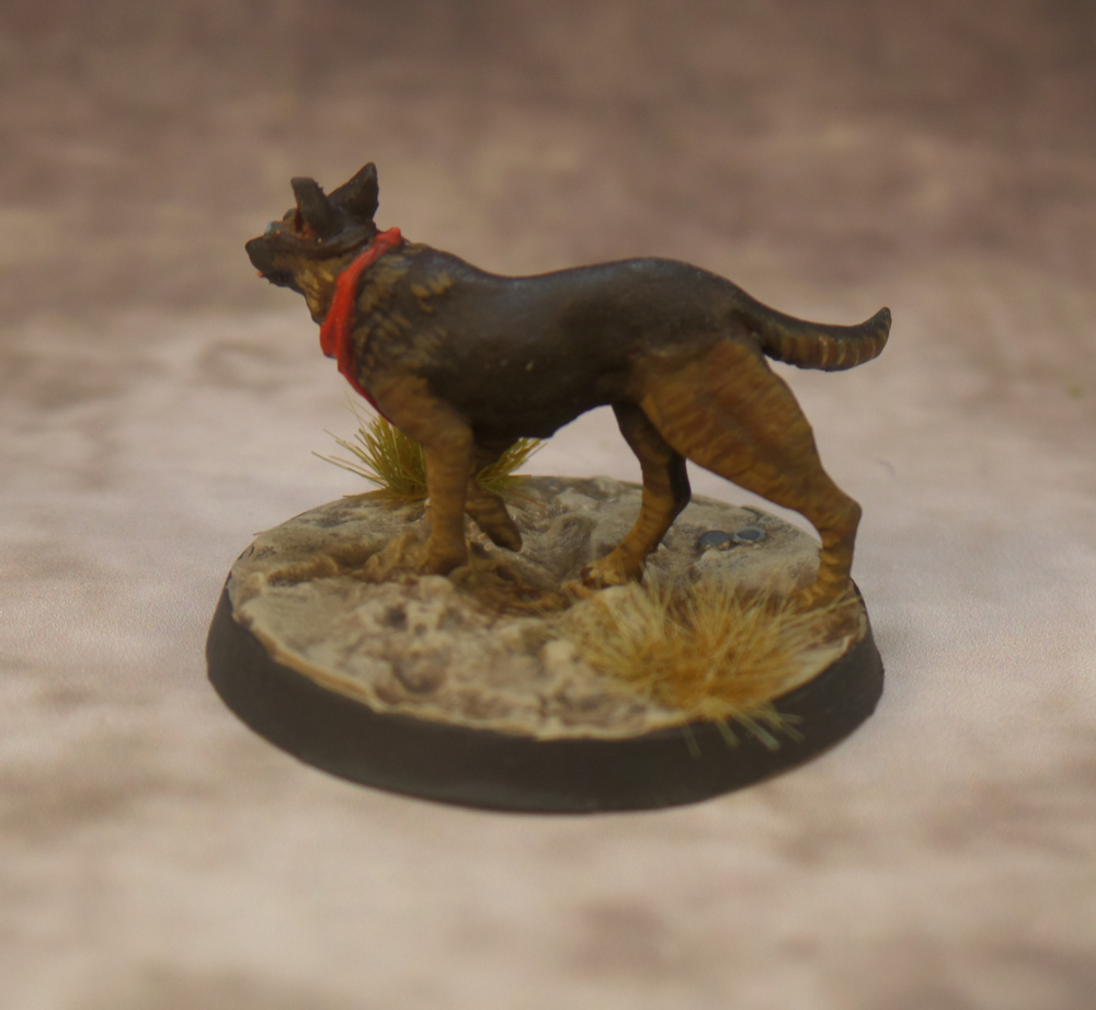 Dogmeat Scout Resin Fallout Wasteland Warfare Modiphius