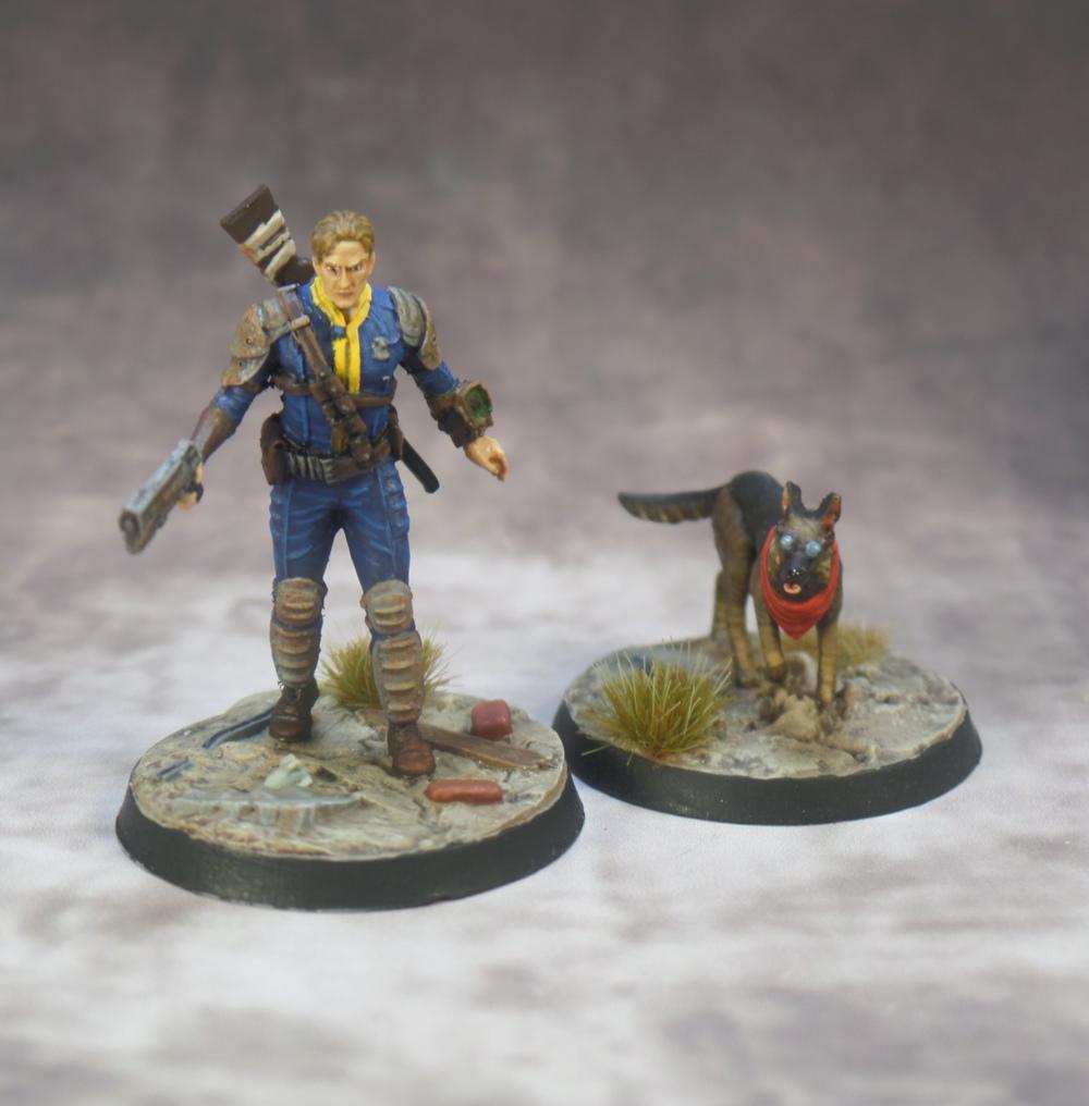 Sole Survivor Dogmeat Fallout Wasteland Warfare Modiphius